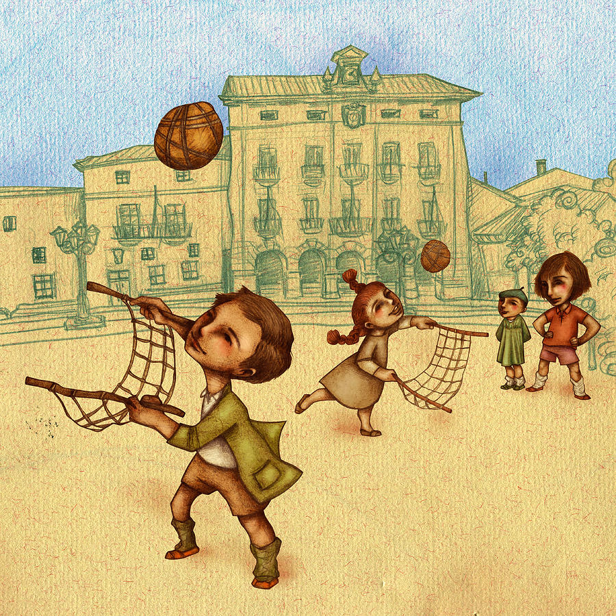 illustration painting traditional game 2 by autogiro illustration - Painting Games 2
