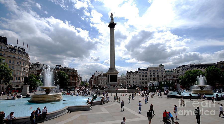 Cityscapes Photograph - Trafalgar Square by Pravine Chester