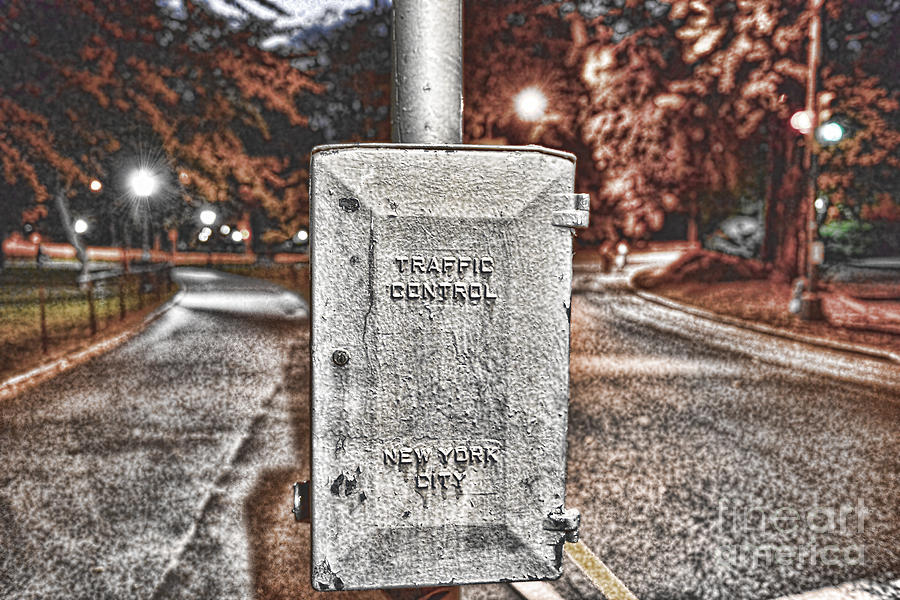 New York City Traffic Photograph - Traffic Control Box by Paul Ward