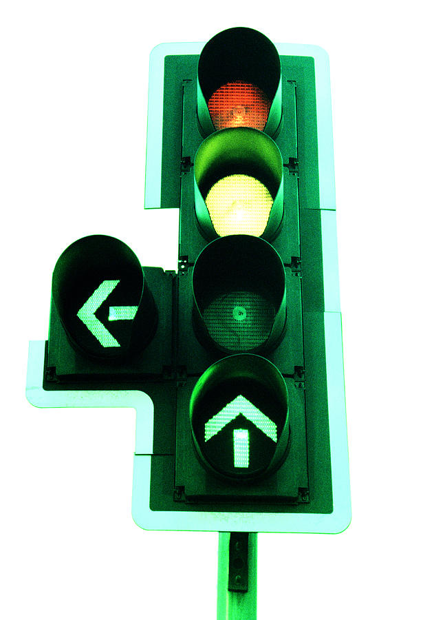 Machine Photograph - Traffic Lights by Kevin Curtis