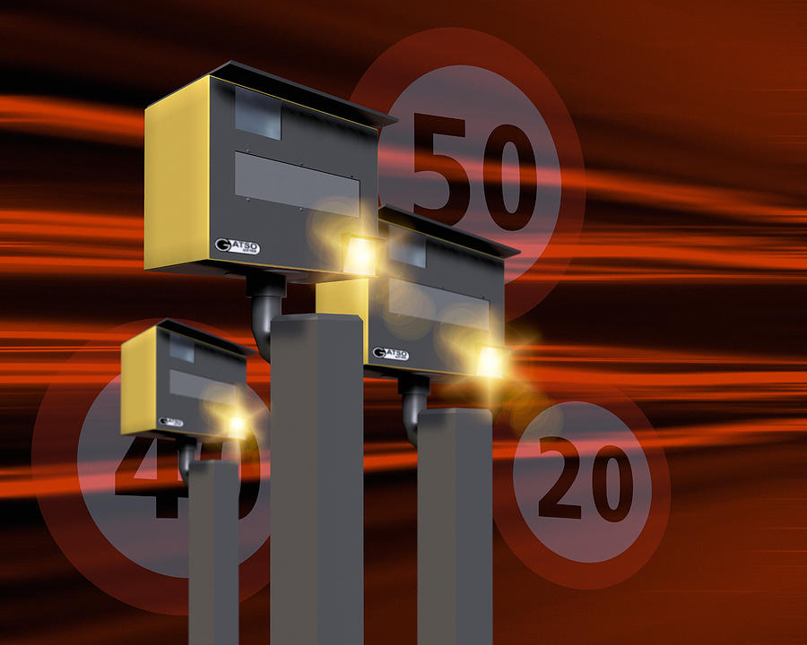 Gatso Photograph - Traffic Speed Cameras by Victor Habbick Visions