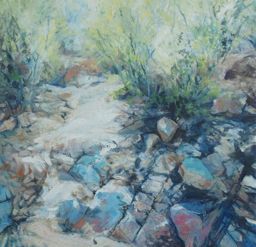 Desert Painting - Trail Incline by Marilyn Muller