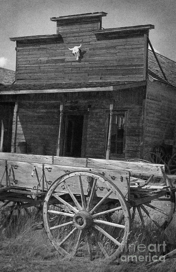 Wooden Photograph - Trail Town In Cody Wyoming by Janeen Wassink Searles