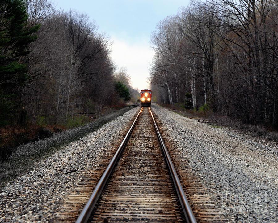 Train Photograph - Train Head On by Ronald Grogan