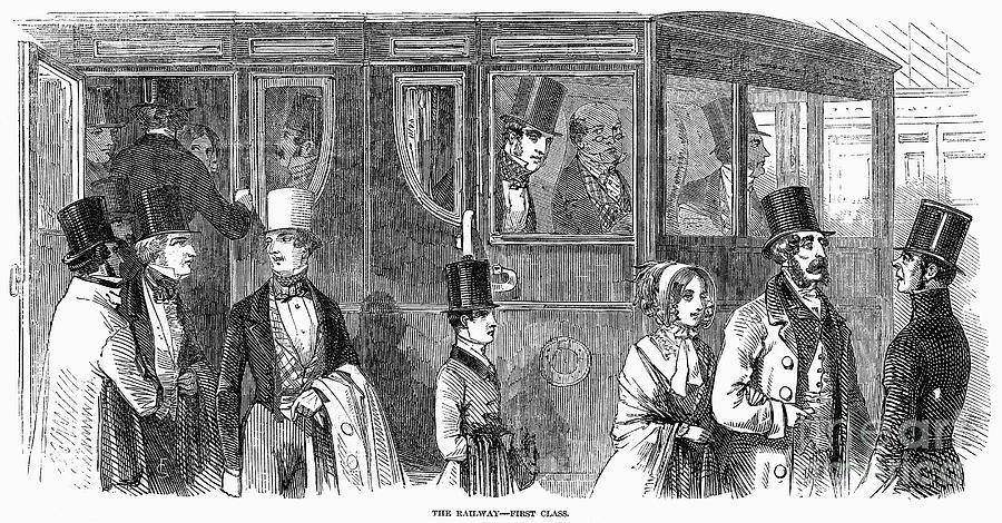 1847 Photograph - Train Travel: First Class by Granger