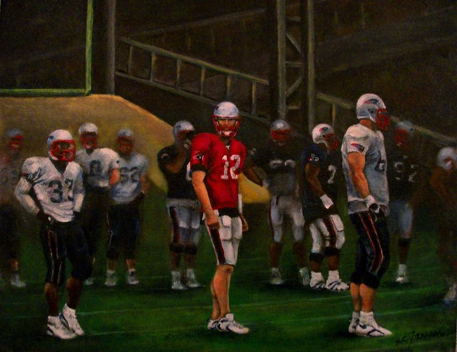 Sports Painting - Training Camp by Sarah Farren