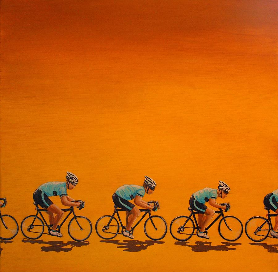 Cycling Painting - Training by Jennifer Lynch