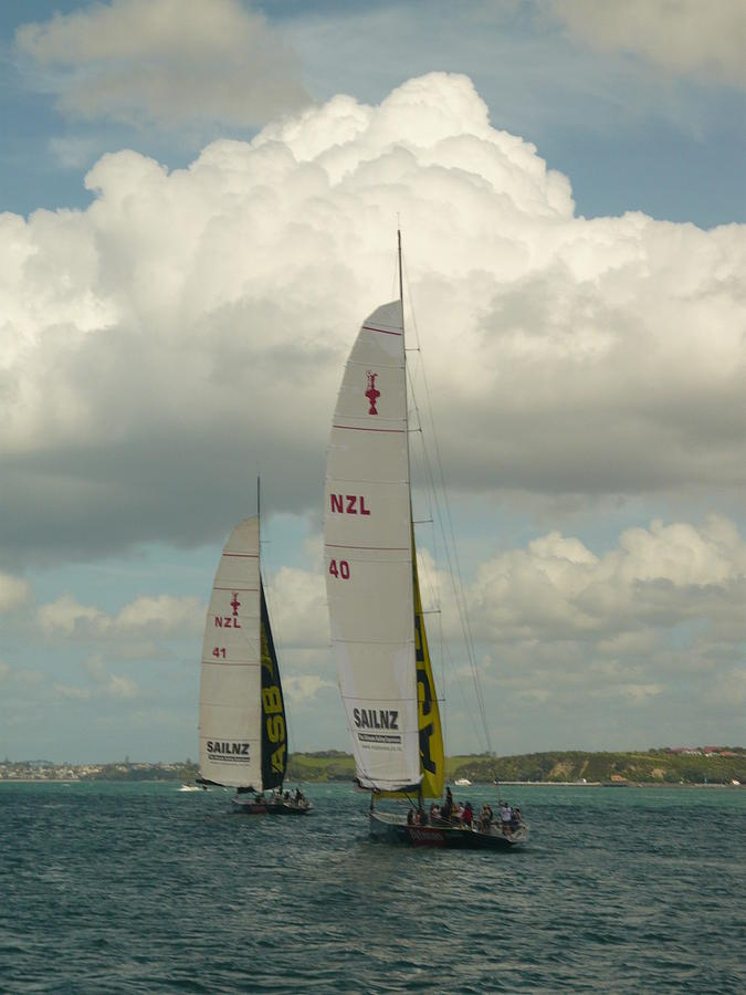 Nzl Photograph - Training On The Harbour by Amy Jayne Roper