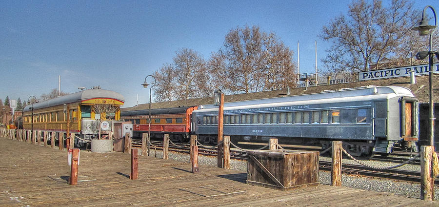 Old Town Sacramento Photograph - Trains by Barry Jones