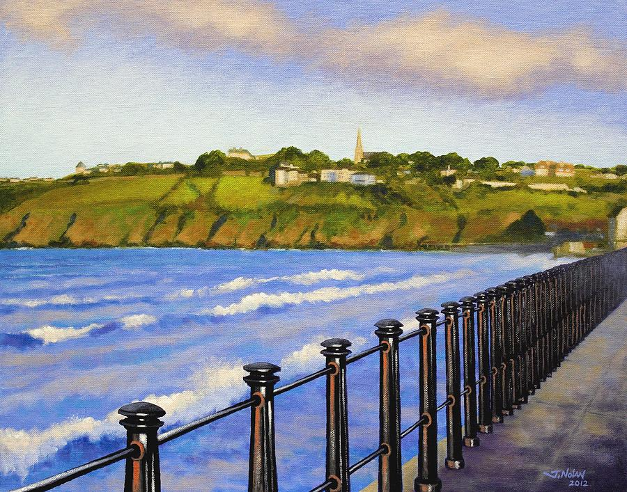 Landscape Painting - Tramore County Waterford by John  Nolan
