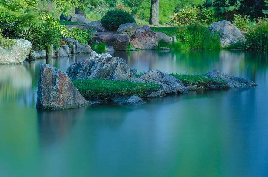 Japanese Garden Photograph - Tranquil Island by Jonah  Anderson
