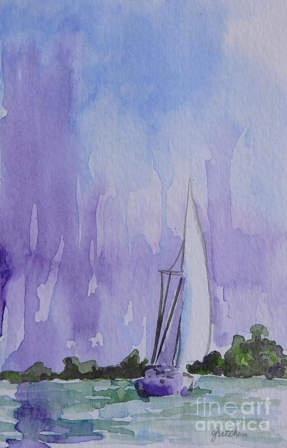 Sailboat Painting - Tranquility by Gretchen Bjornson