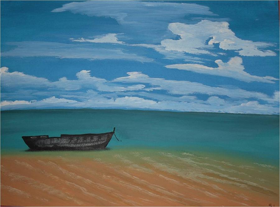 Seascape Painting - Tranquility by Silvia Louro