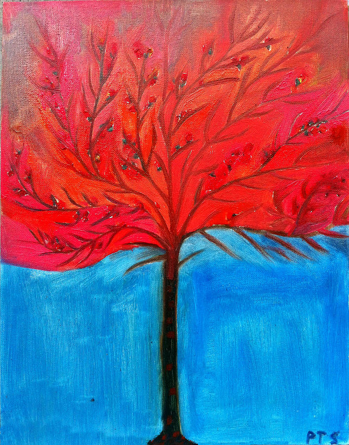 Tree Painting - Transition To Spring by Prachi  Shah