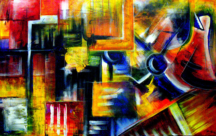 Abstract Painting - Transitions by Laura  Gomez