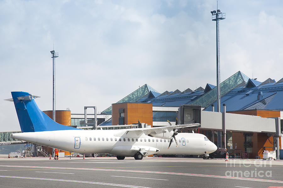 Air Travel Photograph - Transport Plane At The Airport by Jaak Nilson