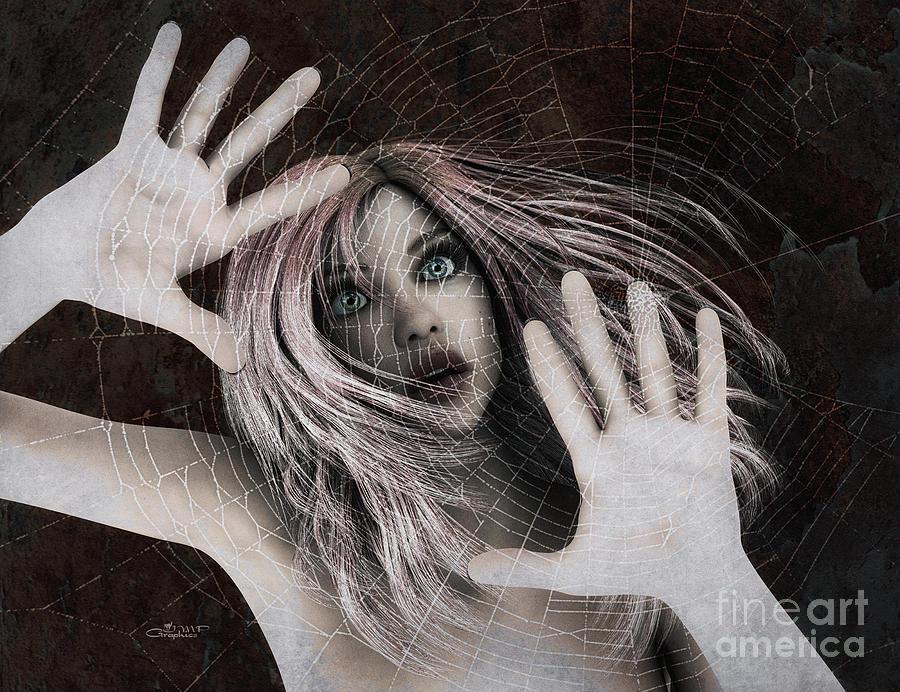 Trapped Digital Art By Jutta Maria Pusl