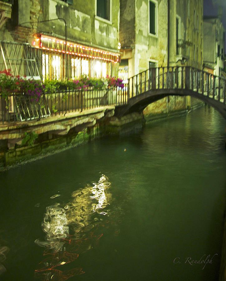 Venice Photograph - Trattoria by Cheri Randolph