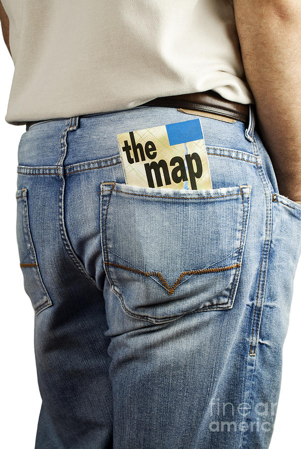 Map Photograph - Travel Map In Back Pocket by Blink Images