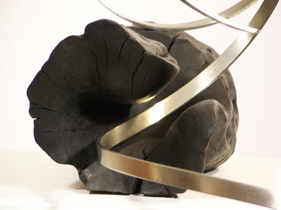 Steel Sculpture - Traveling Miles -- Detail by Evan Leutzinger