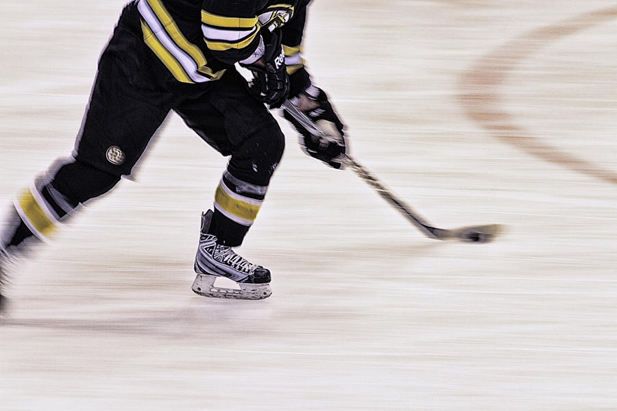 Hockey Photograph - Traveling With The Puck by Karol Livote