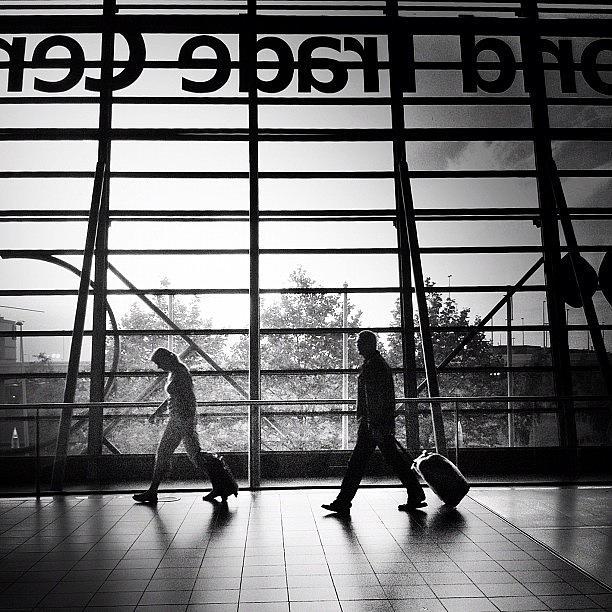 Noir Photograph - Travellers by Robbert Ter Weijden