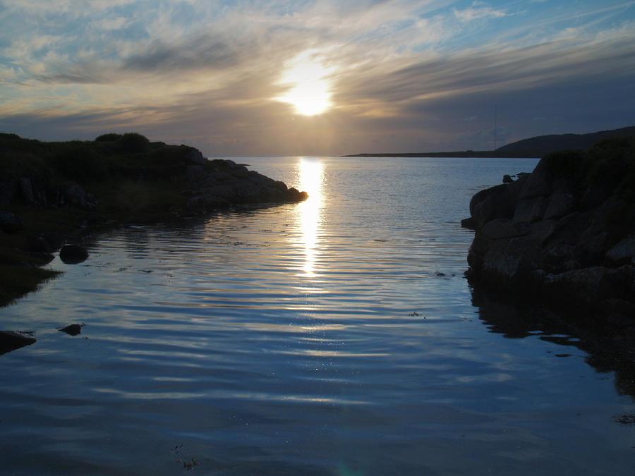 Bay Photograph - Trawenagh Bay At Sunset 2 by Steve Watson