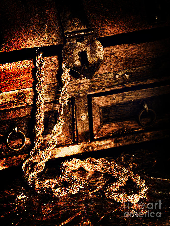Gold Photograph - Treasure Box by HD Connelly