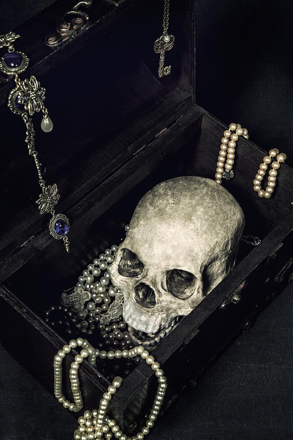 Skull Photograph - Treasure Chest by Joana Kruse