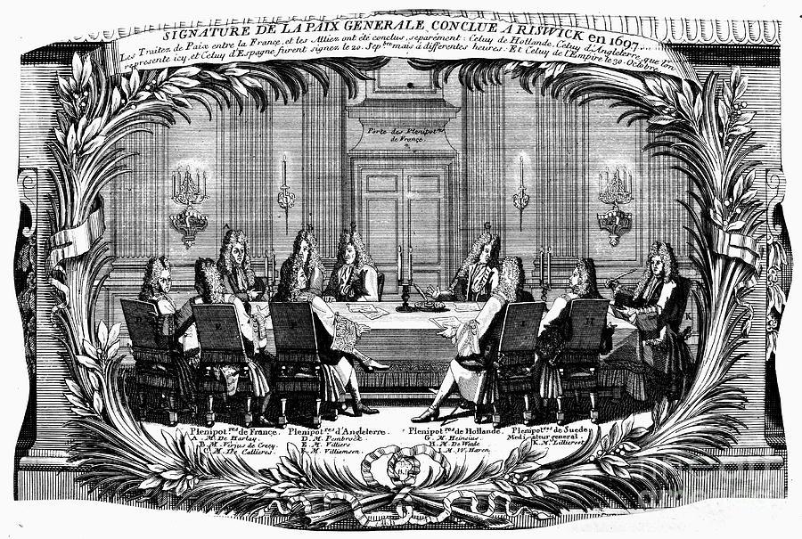 Treaty Of Ryswick, 1697 Photograph by Granger
