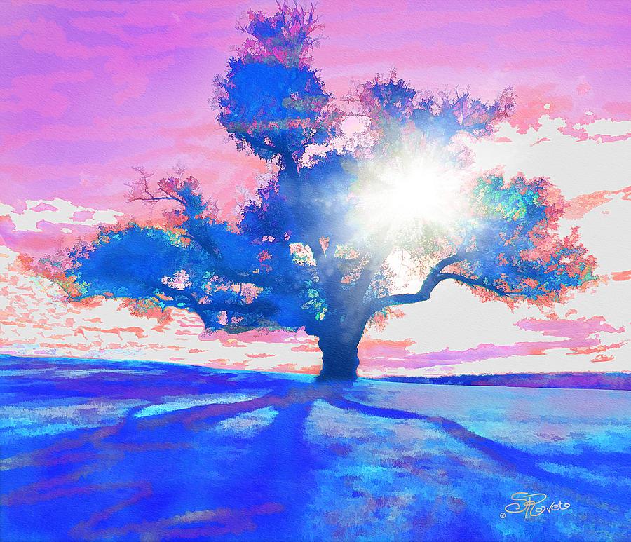 Tree Painting - Tree Art 001 by Suni Roveto