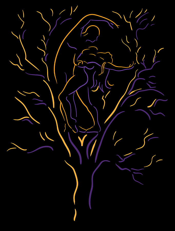 Abstract Tree Painting - Tree Dancers by Shane Robinson