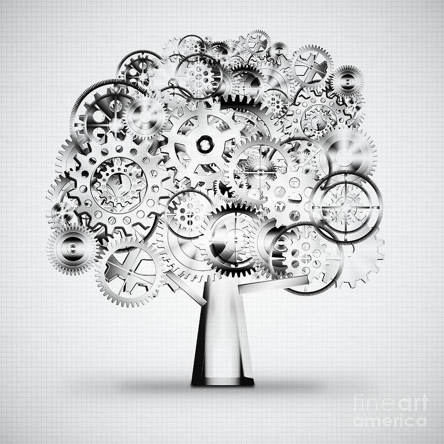 Art Photograph - Tree Of Industrial by Setsiri Silapasuwanchai