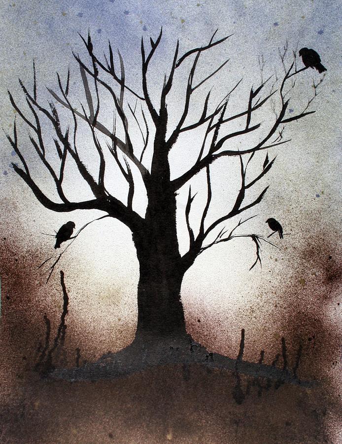 Trees Painting - Tree Shadows by Alma Yamazaki