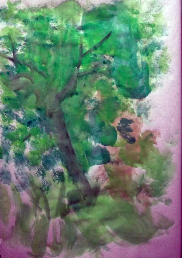 Portrait Painting - Tree.cohen And Me by Peter Edward Green