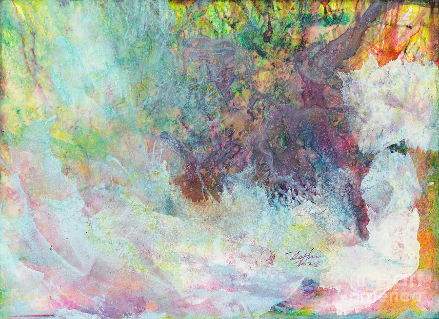 Abstract Painting - Trees 08 by David W Coffin