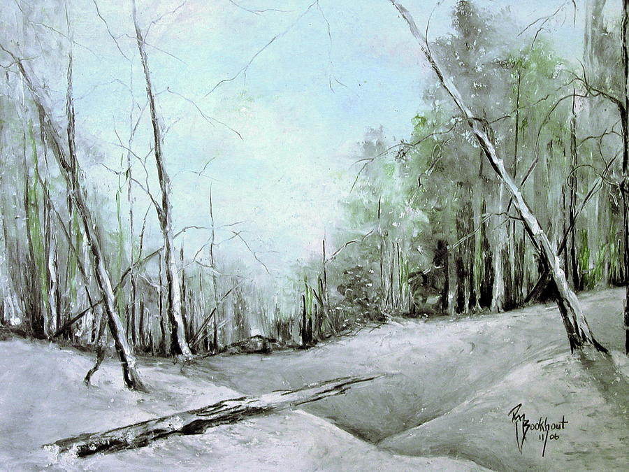 Winter Drawing - Trees In Winter #2 by Robin Miller-Bookhout