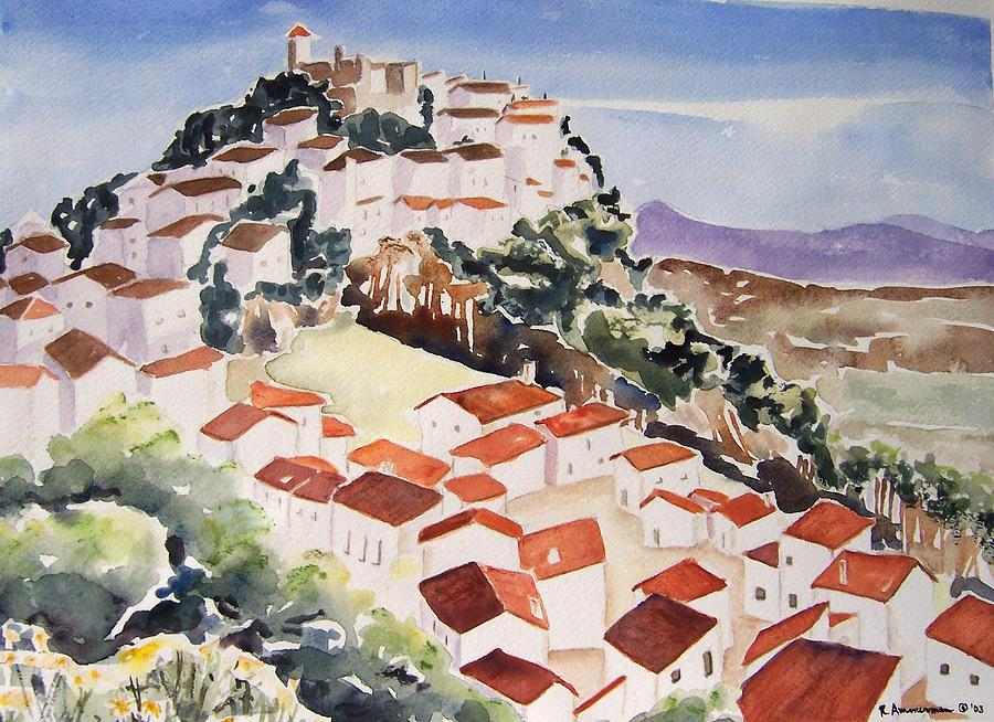 Spain Painting - Tresorio De San Martin by Regina Ammerman