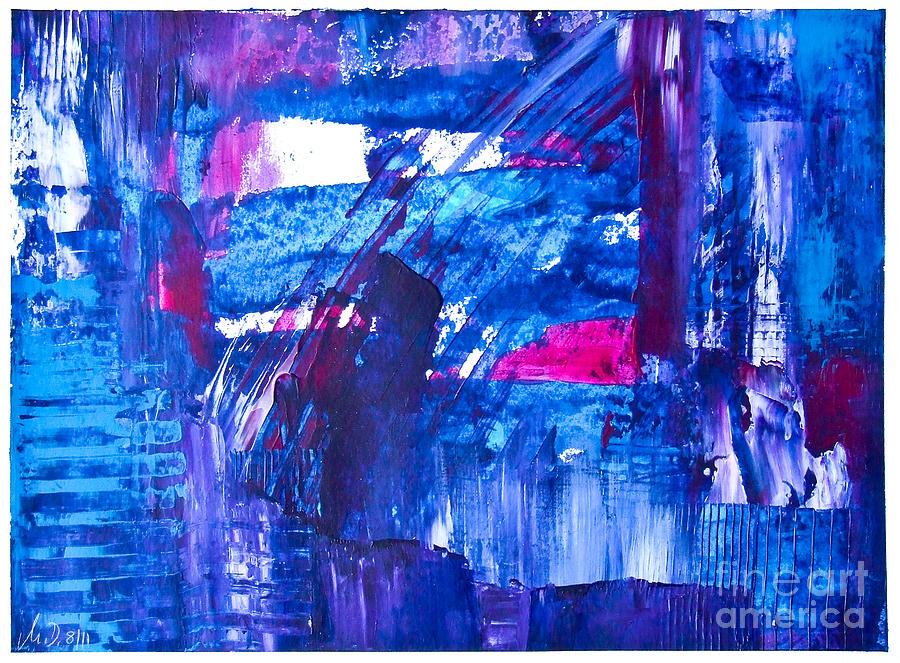 Acrylic Painting Painting - Trevors World by Martina Dresler