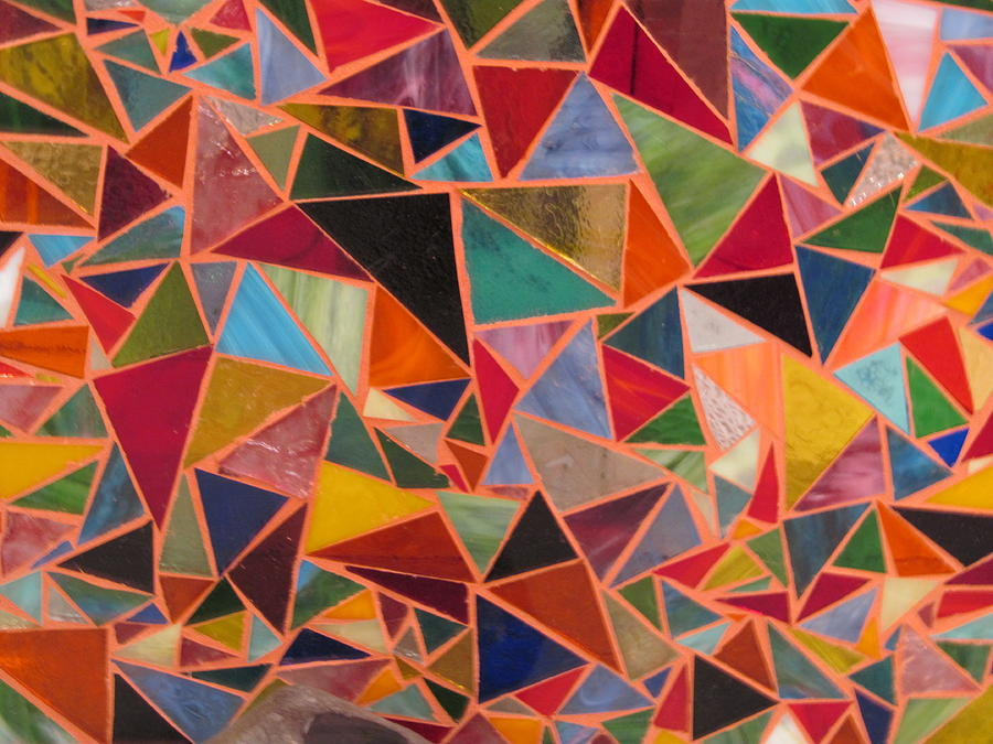 Triangles Glass Art - Triangles by Donna Moore