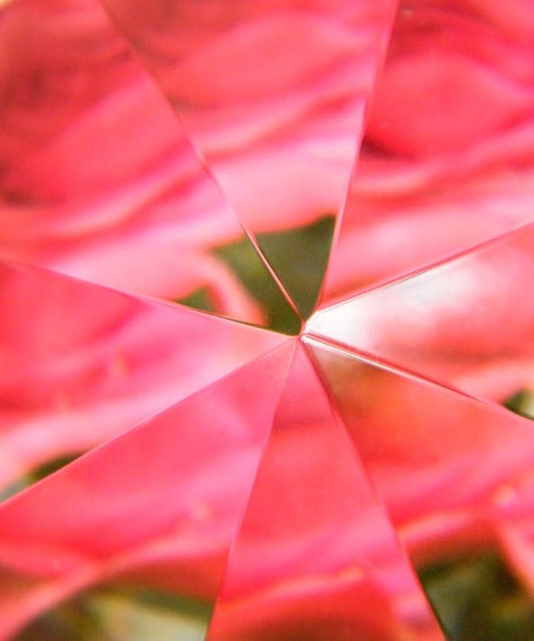 Modern Photograph - Triangles Of Fire Converge To A Point by Mary Sedivy