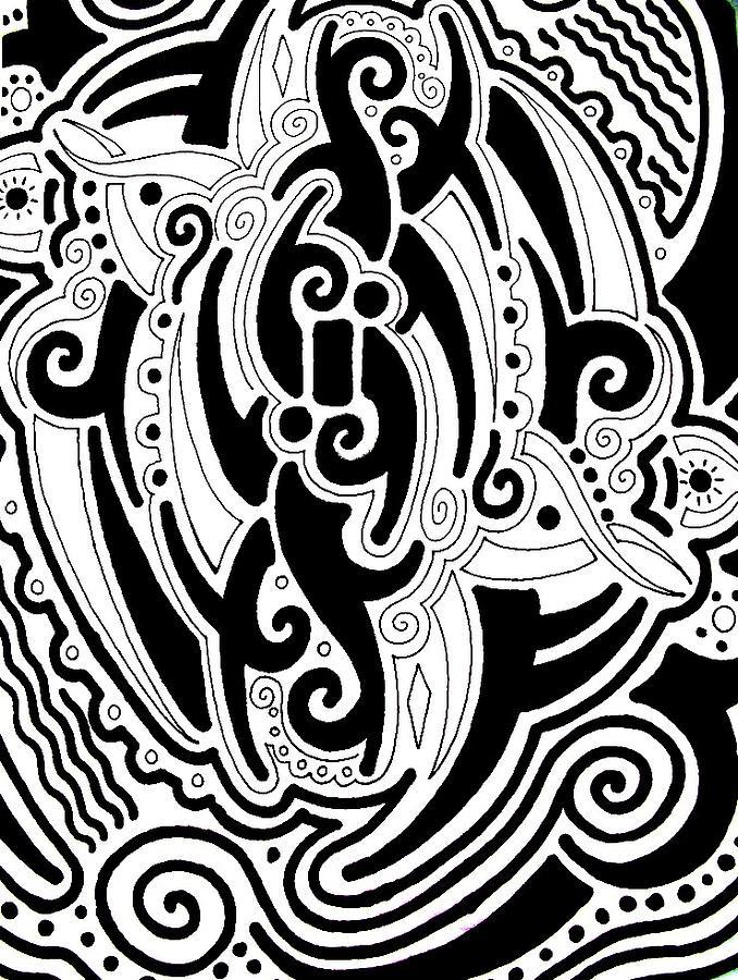 Drawing Drawing - Tribal by Andrew Padula