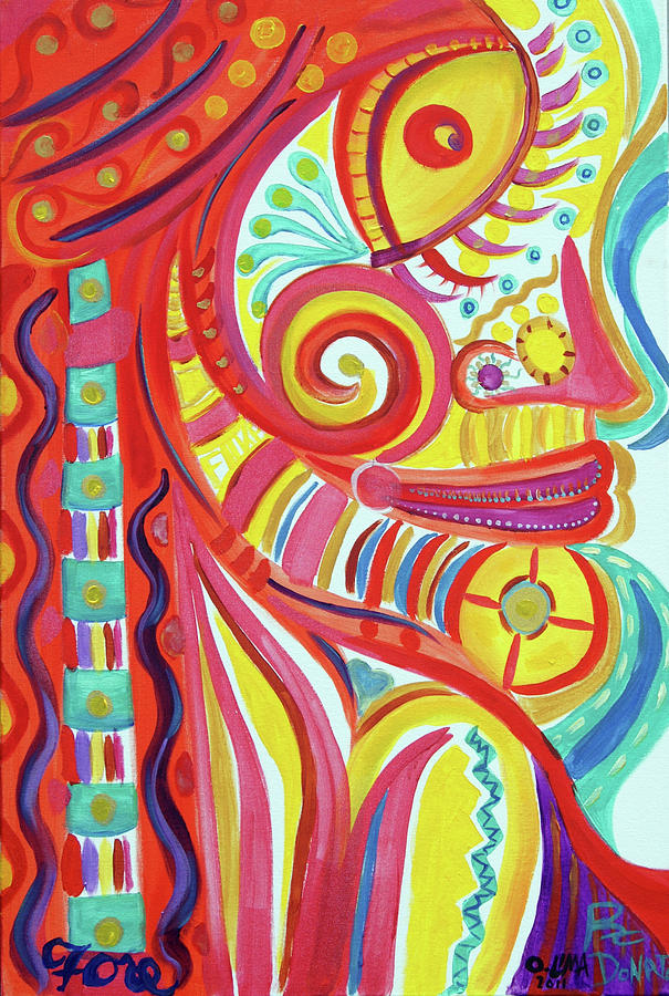 Girl Painting - Tribal Beauty by Ottoniel Lima Lorinda Fore and Rex Donato