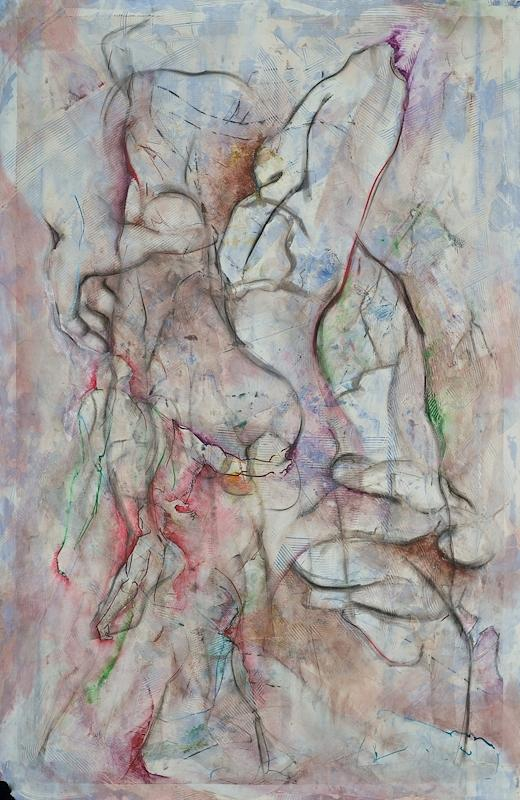 Nudes Drawing - Tribulations by David  Beers