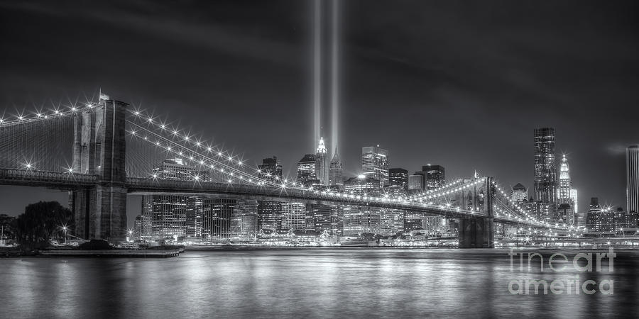September 11 Attacks Photograph - Tribute In Light Vi by Clarence Holmes