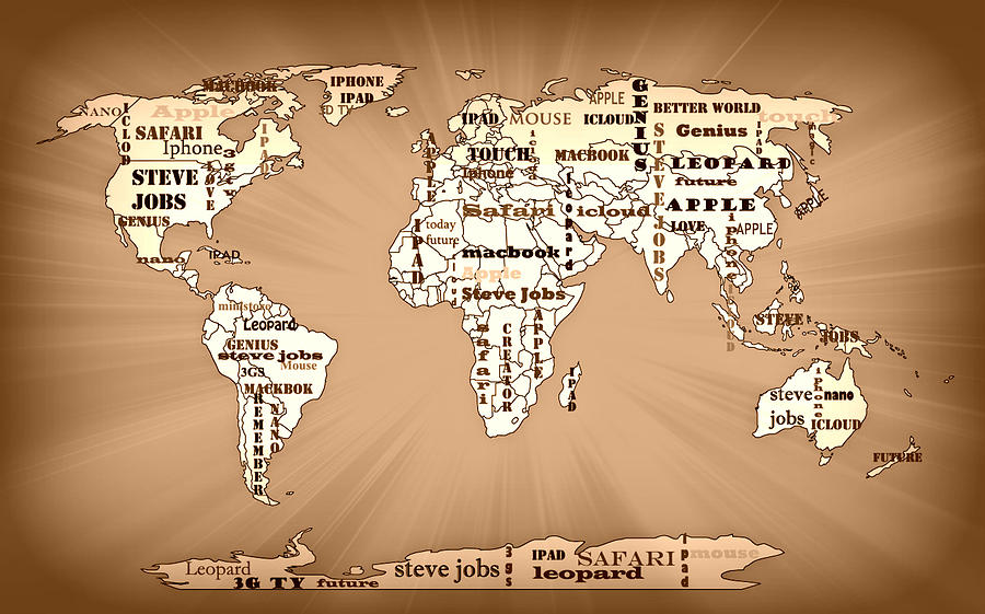 Tribute to steve jobs world map painting by georgeta blanaru macbook painting tribute to steve jobs world map by georgeta blanaru gumiabroncs Gallery