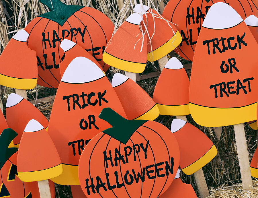 Halloween Photograph - Trick Or Treat Happy Halloween by Julie Palencia