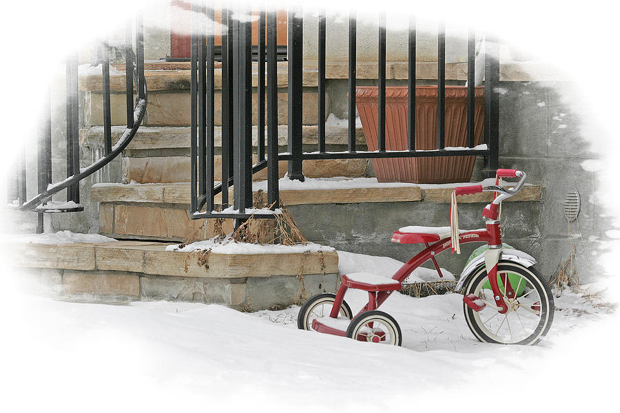 Red Photograph - Tricycle by Judy Deist