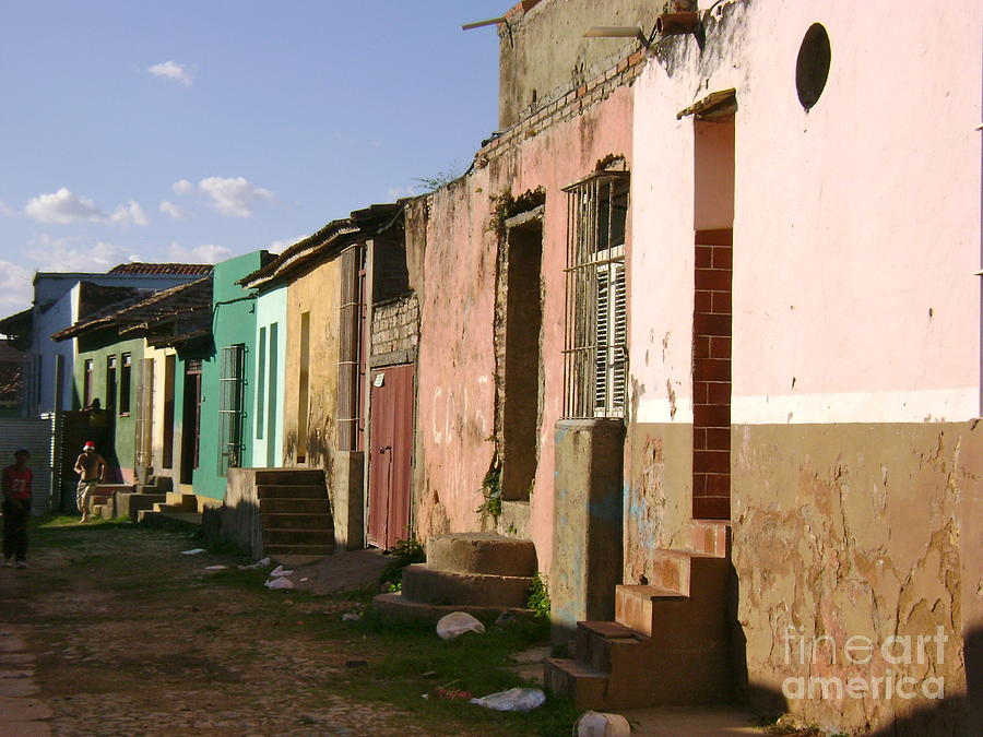 Street Scene Photograph - Trinidad Cuba by Laurel Fredericks