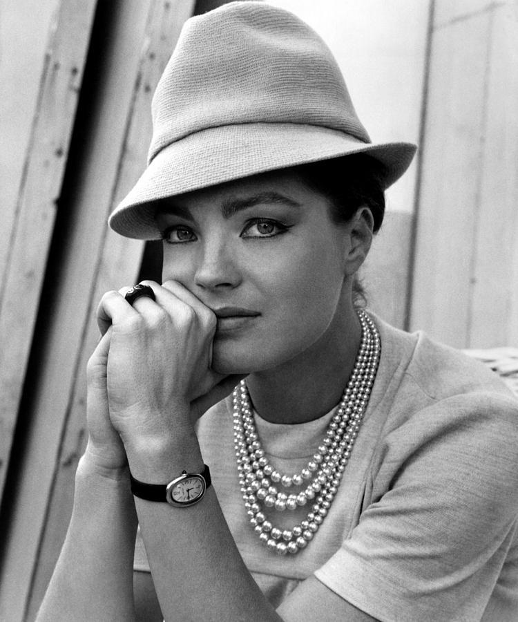 1960s Fashion Photograph - Triple Cross, Romy Schneider, 1967 by Everett